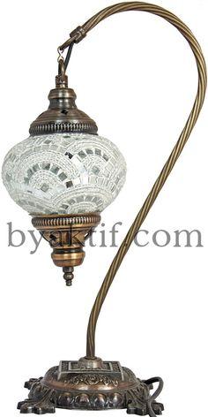 14 CM Glass Mosaic Turkish Swan Neck Bedside by LeylasLanterns Dream Furniture, Mini Things, Chandelier Lamp, Twinkle Lights, Mosaic Glass, Home Interior Design, Lamp Light, Table Lamp, Swan