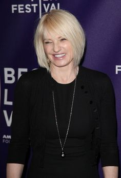Ellen Barkin's platinum hue isn't for the faint of heart, but it goes beautifully as an edgy 'do perfect for a woman over 50. This layered bob works great for fine hair and goes great with bangs for added flattery.More Hairstyles Just for Us:10 Perfect Ponytails Over 40Blonde Hairstyles Over 50Red H...