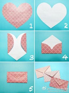 Gift Wrap:  DIY Heart envelope:
