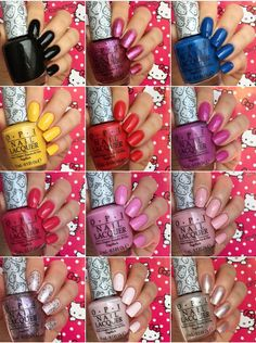 Super cute in pink  OPI Hello Kitty collection  Opi  Pinterest