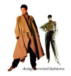 années 1980 VOGUE manteau modèle pantalon & chemise Patterns Avant Garde robe Vogue 1476 Issey Miyake individualiste taille 12 Womens Sewing Patterns non circoncis par DesignRewindFashions sur Etsy https://www.etsy.com/fr/listing/244871946/annees-1980-vogue-manteau-modele