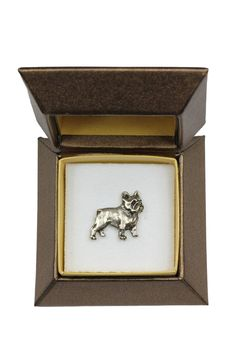 NEW French Bulldog dog pin in casket limited by ArtDogshopcenter