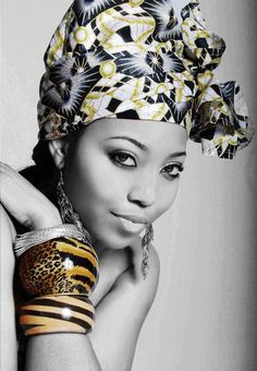 {Grow Lust Worthy Hair FASTER Naturally}>>> www.HairTriggerr.com <<<       What a Beautiful Headwrap and Bangles!!!
