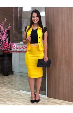 6919 - Conjunto Executiva - Floratta Modas Abaya Fashion, Modest Fashion, Fashion Outfits, African Fashion Ankara, African Dress, Classy Dress, Classy Outfits, Elegant Dresses, Casual Dresses