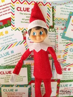 Want to create a new Christmas Tradition for the family? Add this Elf on the Shelf Scavenger Hunt for Christmas. See where these 22 rhyming clues & holiday scavenger hunt riddles lead. New Elf on a Shelf Ideas + Elf on the Shelf printables. Use as a Christmas Eve Tradition. #FrugalCouponLiving #scavengerhunt #Christmasscavengerhunt #elfontheshelfprintables #ElfontheShelf #ElfontheShelfIdeas #ElfIdeas #christmastraditions #funnyelfontheshelf #elfprintables #printables #ElfonaShelf #ScoutElves