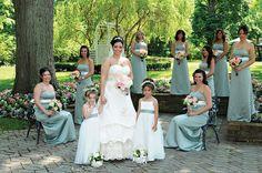 Janine Jackson weds Paulo Roldan at Shadowbrook in Shrewsbury • Bride's Gown: Oleg Cassini, David's Bridal; Bridesmaid Dresses: David's Bridal, Freehold; Hair: Gina Mills; Makeup: Faces by Lynne • ttp://www.newjerseybride.com/realweddings/janine-jackson-paulo-roldan/