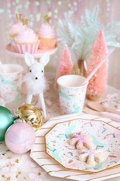 Retro Christmas Decorations, Christmas Birthday Party, Christmas Baby Shower, Christmas Unicorn, Whimsical Christmas, Magical Christmas, Christmas Mood, Kids Christmas, Simple Christmas