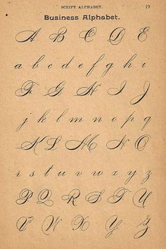1890s Calligraphy Print Page Capital Letters Ornamental Writing Pen Flourishing…