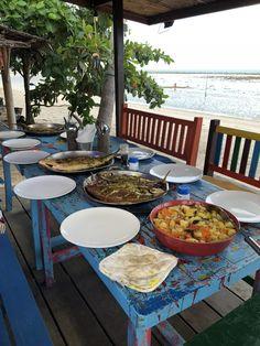Thai delicious dinner on the beach. Koh Samui - Beach villa Thailand