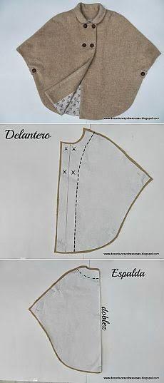Resultado de imagem para como fazer poncho-capa