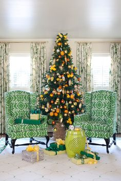 Citrus Fruit Christmas Tree