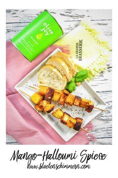 Mango-Halloumi Spieße sind perfekt zum Grillen! Einfach aufspießen, marinieren & genießen. #mango #halloumi #grill #grillen #grillrezepte #grillideen #lowcarb #deutsch #fitfood #vegetarisch #leckere #rezepte #rezept #gesund #essen #gesundes #healthy #healthyfood #food #foodie #rezeptideen