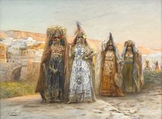 """Georges Jules Victor Clairin Femmes Ouled Naïl France (between 1869 to Gouache, 54 x 73 cm Private Collection vodkafolie submitted to medievalpoc: """" A student of Pils and Picot at the Fine-Arts Academy in Paris,. Gouache, Amber Tree, Sculpture, French Art, Art Fair, Cool Artwork, Impressionism, Art History, Images"""