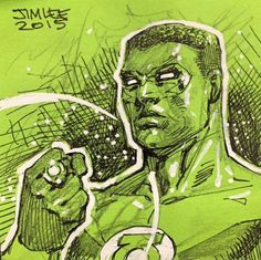 Green Lantern - John Stewart by Jim Lee *