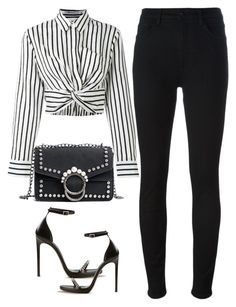 """Untitled #1201"" by fashionmodelstyle ❤ liked on Polyvore featuring Yves Saint Laurent, dVb Victoria Beckham and T By Alexander Wang"