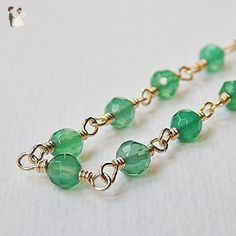 c73f0fb8c280 Emerald Green Onyx Necklace in Goldfill - Wedding nacklaces ( Amazon  Partner-Link)