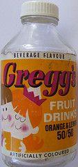 Early 1970s Greggs Orange & Lemon Fruit Drink Bottle - New Zealand