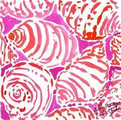 Lily pink seashells