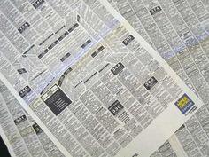 publicidad en un periódico