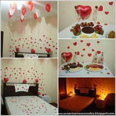 Decoração para o Dia dos Namorados | Surpresas para Namorados                                                                                                                                                                                 Mais