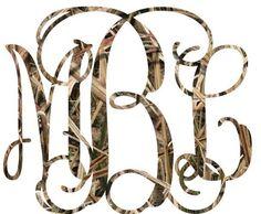 3 Initials Custom Vine Monogram Camo For Your Yeti Rambler Tumbler Coldster  #mossyoak3mvinyl