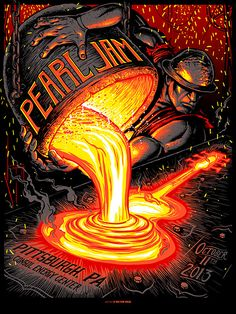 Pearl Jam, Pittsburgh Poster by Munk One