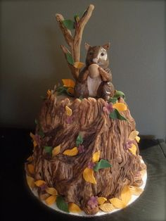 squirrel cake  Cake by joy cupcakes NY