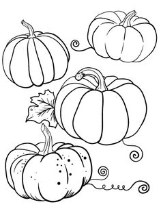 Printable pumpkin coloring page - Free PDF download at -coloring cafe