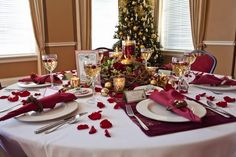 cranberry and gold wedding ideas | Victorian-Inspired Christmas Party Ideas
