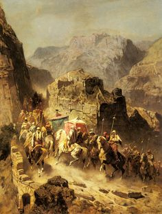 "Alberto Pasini: ""An Arab Caravan"" 1899"