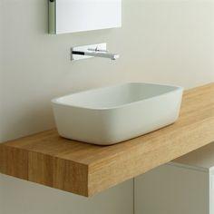 Servant MO White for benkeplate Neutral Bathroom, Bathroom Interior, Tiles, Sink, Elegant, Wood, Inspiration, Design, Home Decor