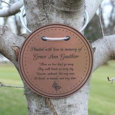Tree Dedication Plaque Projects Memory Tree Garden