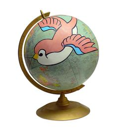 Overcome Vintage Globe Art by wendygold on Etsy
