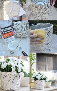 Diy planters - Options for DIY Garden Globes garden gardendesig gardenideas gardening If you like to spend time in your garden, then you should Diy Home Crafts, Garden Crafts, Diy Garden Decor, Arts And Crafts, Garden Art, Glow Garden, Garden Ideas, Diy Concrete Planters, Concrete Garden