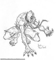 Geist by on DeviantArt Monster Drawing, Monster Art, Demon Drawings, My Drawings, Character Art, Character Design, Comic Drawing, Monster Design, Drawing Reference Poses
