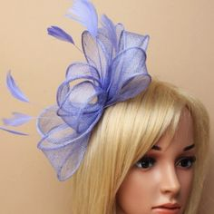 £19.99 Cornflower Blue Large Looped Feather Fascinator Internet Advertising, Wedding Fascinators, Feather, Blue, Quill, Feathers