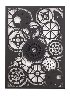 Entanglements Laser Cut Metal Art, Clockwork design///Entanglements Metal Art