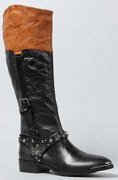 a90b346283e Sam Edelman The Park Boot in Black and Saddle   Karmaloop.com - Global  Concrete