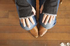 """Made by Katrina"": How to Make Fingerless Gloves from Sweaters --really clear, good instructions"