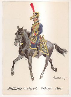 French; Horse Artillery, Officer, 1805 by H.Knotel