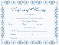 Vital Records like Marriage and Divorce Records can be obtained online. Certificate Format, Wedding Certificate, Marriage Certificate, Certificate Design, Certificate Templates, Passports For Kids, Wiccan Wedding, Marriage Records, Wedding Images