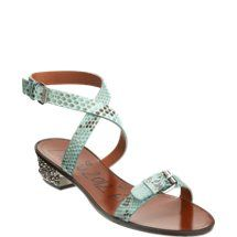 Lanvin Python Studded Heel Sandal