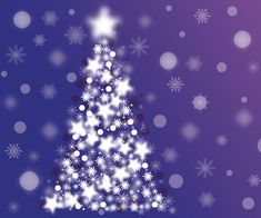 Free Abstract Sparkle Christmas Tree Vector Background