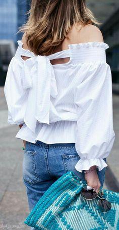 Ladies Long Sleeved Button One Word Collar Elegant Denim Jacket Vintage Fashion Special Style Slim Fit Off Shoulder Denim Shirt Carmen Blouse