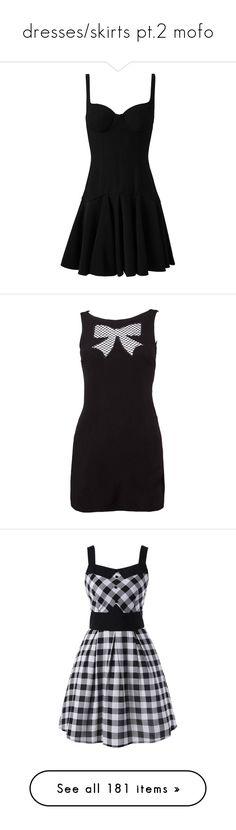 """dresses/skirts pt.2 mofo"" by heyimlori on Polyvore featuring dresses, vestidos, short dresses, robes, sleeveless dress, bone dress, no sleeve dress, crepe fabric dress, thin strap dress and black"