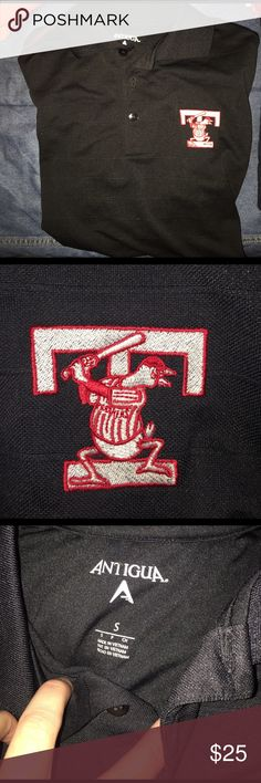 Black Toledo mud hens polo with red stitching No imperfections. Short sleeve polo Antigua Shirts Polos