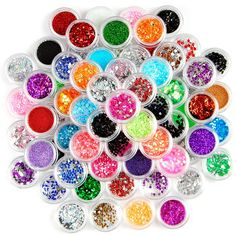 80 Colours Sparkle Nail Art Tips Decoration Glitter Powder Dust Bead Hexagon Gems Rhinestones * Be sure to check out this awesome product.