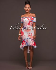 Chic Couture Online - Samba Floral Multi-Color Print High-Low Dress, (http://www.chiccoutureonline.com/samba-floral-multi-color-print-high-low-dress/)