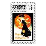 Vintage Halloween Postage with Witch and Pumpkin - Stamps Custom Stamps, Self Inking Stamps, Vintage Halloween, Witch, Great Gifts, Stationery, Pumpkin, Gift Ideas, Papercraft