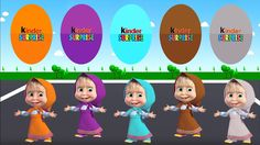 Colors for Children to Learn with Color Masha, Learn Colours with Surpri...